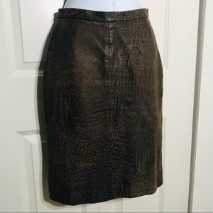 Michael Hoban For North Beach Leather Skirt